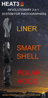 Heat 3 Smart Glove skyscraper banner for www.coolphotographygear.com